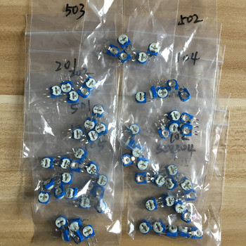130pcs Trimming Potentiometer RM-065 top adjustment 100ohm-1Mohm RM065 Variable Resistors Assorted Kit 13Type*10pcs=130pcs 50pcs trimmer potentiometer rm 065 1kohm 102 1k trimmer resistors variable adjustable resistors