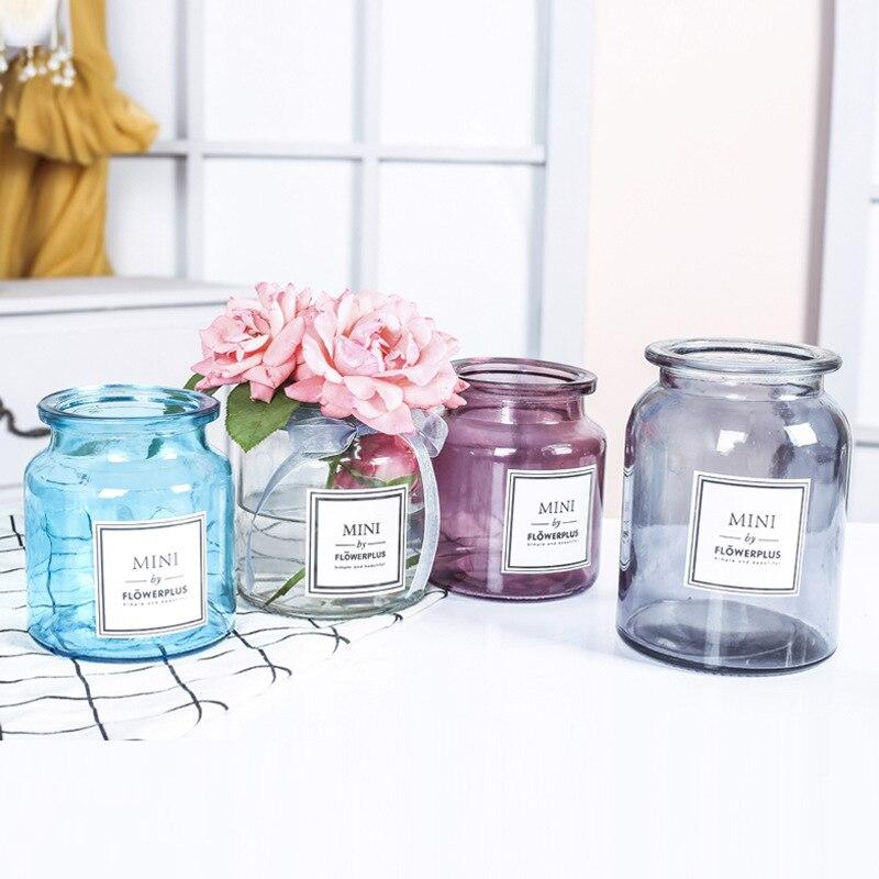 Современный творческий Стекло ваза с ораментами предметы домашнего обихода офисный стол букеты цветочный горшок Свадебные украшения