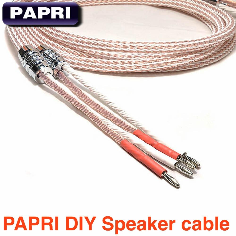 PAPRII DIY 1 пара 12TC тефлон OCC Динамик оболочка кабеля аудио усилитель Динамик s провода 1,5 метра 2 метров/ 2,5 метров 3 метра