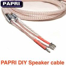 PAPRII DIY 1 Para 12TC Teflon OCC Lautsprecherkabel mantel Audio Verstärker Lautsprecher Draht 1.5Meters2Meters/2,5 Meter/3 meter