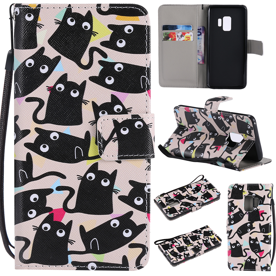 Flip PU Leather + Wallet Cover Case For Samsung Galaxy J1 J3 J5 Prime J7 2016 2017 S3 S4 S5 mini S6 S7 Edge S8 S9 Plus Case B128