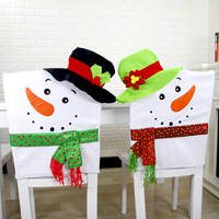 Christmas Chair Cover Christmas Snowman Cartoon Chair Cover Pure Handmade Table Decorations For For Home Outdoor