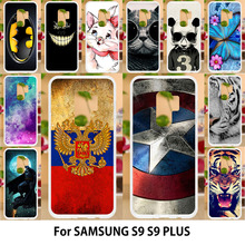 Anunob For samsung s9 case Silicone TPU Soft Back Covers Samsung Galaxy S9 Plus S9+ Painted Flags Captain American Housing Bag