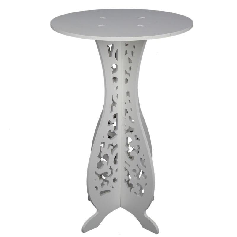 Белый Круглый Журнальный чайный столик стойка боковая Торцевая таблица современный журнальный столик - Цвет: Слоновая кость