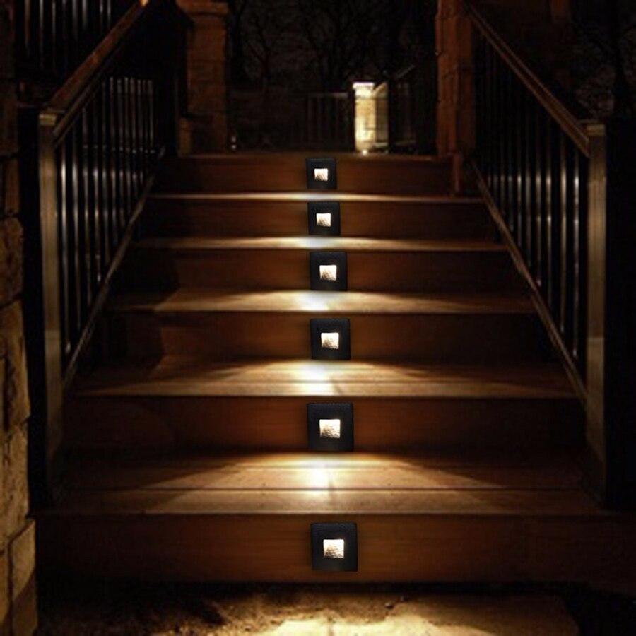 Lâmpadas de Parede ao ar Livre escada paisagem passo convés luz Wattage : 1w 3w