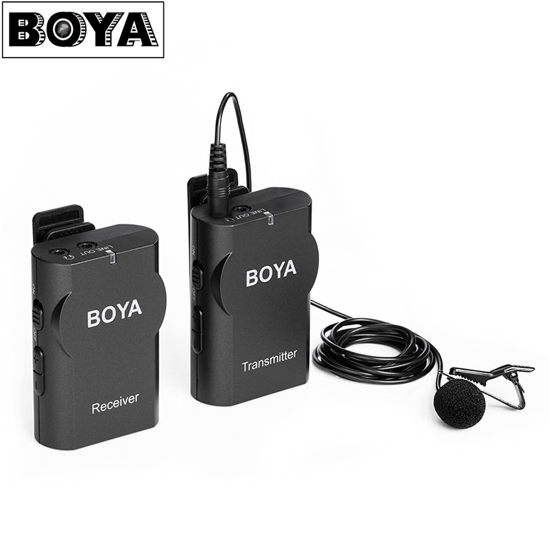 BOYA BY-WM4 Wireless Lavalier Microphone System for Canon Nikon Sony Panasonic DSLR Camera Camcorder for iPhone Android Phone DV godox led308y 308 3300k led video light lamp for sony panasonic canon nikon dv camcorder dslr camera