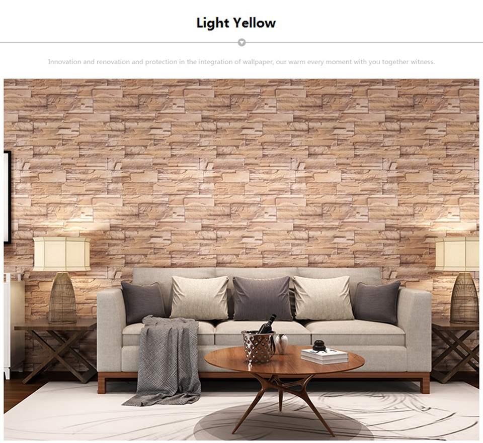 Vintage Brick Stone Peel and Stick Wallpaper for Living Room Restaurant Wall Decal PVC Vinyl Waterproof Home Decor Contact Paper