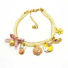 Fashion  cute and sweet love letter pendant bracelet hot in summer