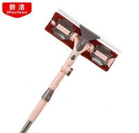 Wiper Cleaning Window Tool Wiper Double Side Telescopic Rod Wiping Windows Artifact Tall Building
