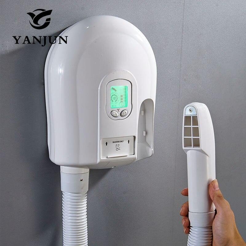 Secador de pelo Yanjun para montaje en pared de Hotel secador de piel electrónico dispositivo secador de velocidad estantes de baño público 220V YJ 2130 - 6