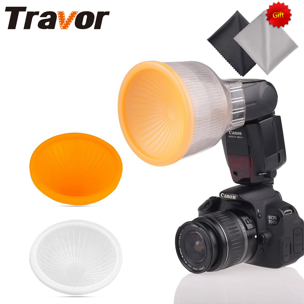 Travor Lambancy Dome Flash Diffuser for CANON 420EX 430EX SONY F36AM with 2pcs Microfiber Lens Cloth