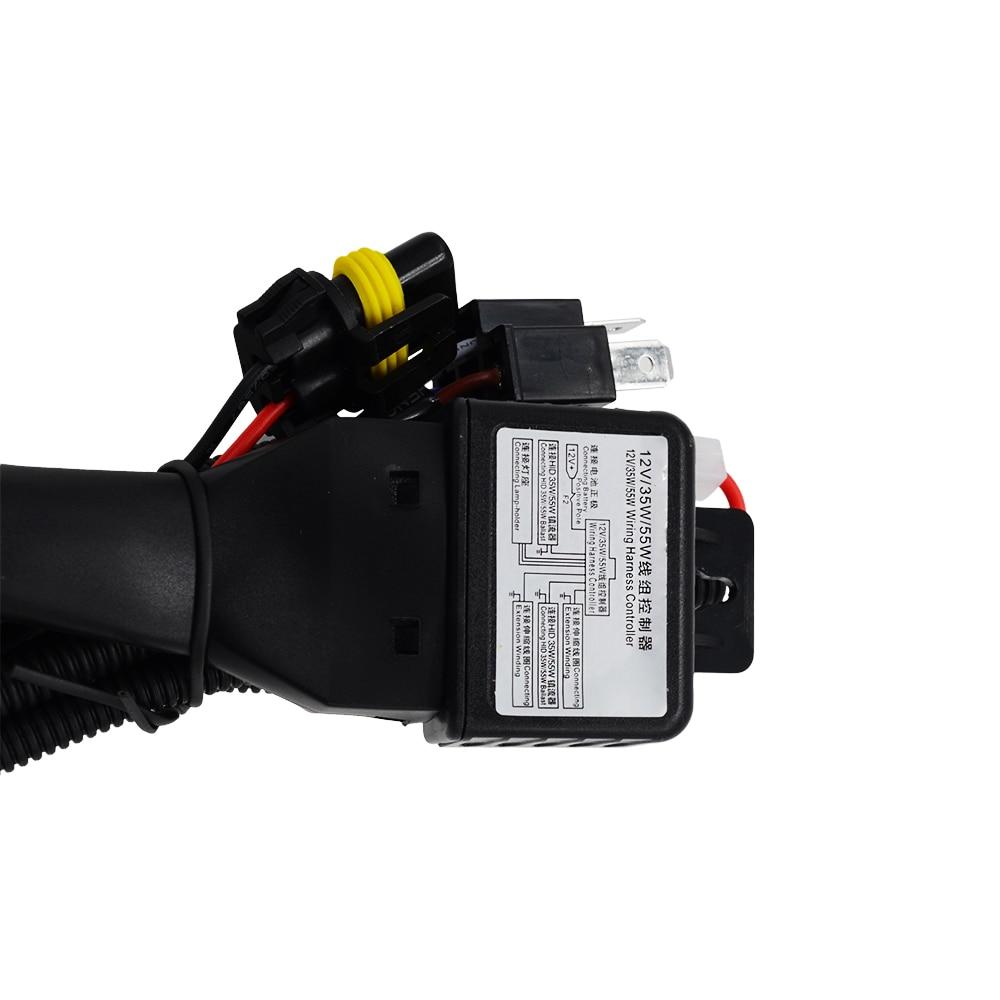 skyjoyce h4 3 wiring harness controller 35w 55w 12v h4 3 bi xenon hi 12V Auxiliary Light Wiring at Hid 12v 35w Wiring Harness Controller