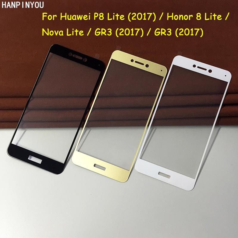 For <font><b>Huawei</b></font> P8 P9 Lite <font><b>GR3</b></font> <font><b>2017</b></font> Honor Lite Full Cover Tempered Glass <font><b>Screen</b></font> Protector Premium Explosion-proof Protective Film image