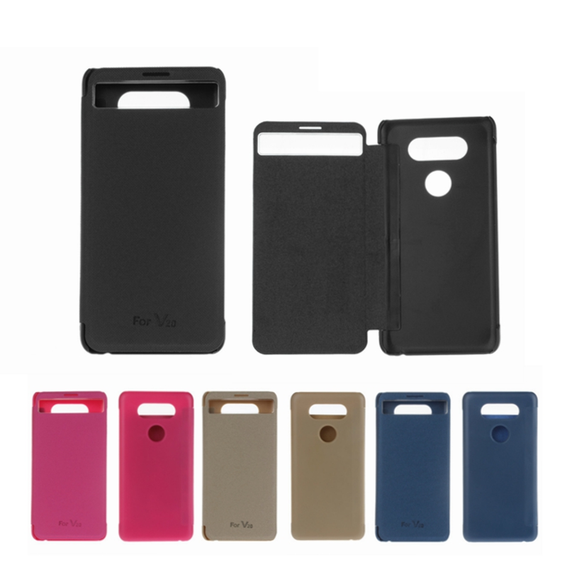 For LG V20 Case H990ds Smart Cover Luxury Quick View Leather Flip Phone Cover for LG V20 F800 Cases For LG V20 Capa Black nf308(China)