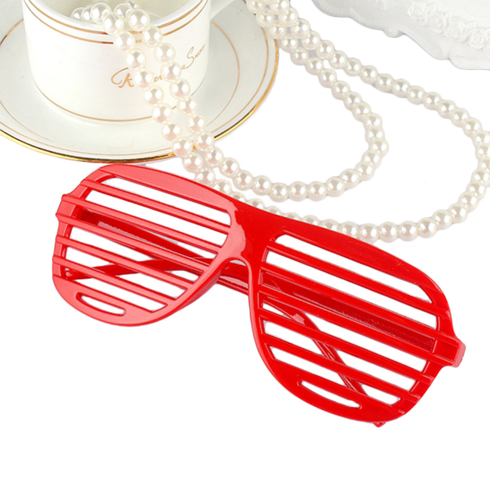 77a991f4e36 1 Pairs Fashion Plastic Shutter Shades Glasses Party Decorative Sunglasses  Eyewear Halloween Club Party Cosplay Props Supplies-in Photobooth Props  from Home ...