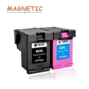 Magnetic Compatible ink cartridges For HP62 For HP 62 Envy 5640 5660 7640 5540 5545 Officejet 5740 5743 5744 5745 printers 62 XL