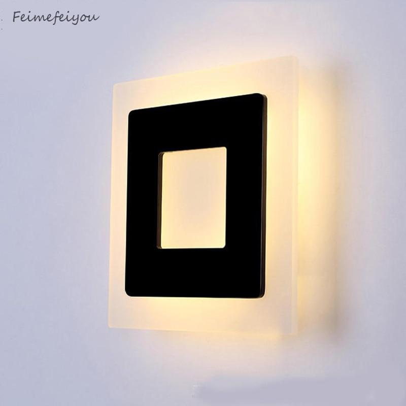 Feimefeiyou Modern simplicity LED lamp Bedside lamp Warm White Light 90-265V Bed Room Living Room Wall Sconces