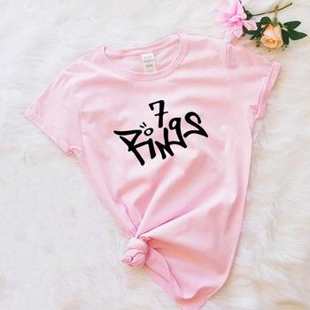 Skuggnas Ariana Grande 7 anillos camisa mejor regalo para Amiga siete anillos...