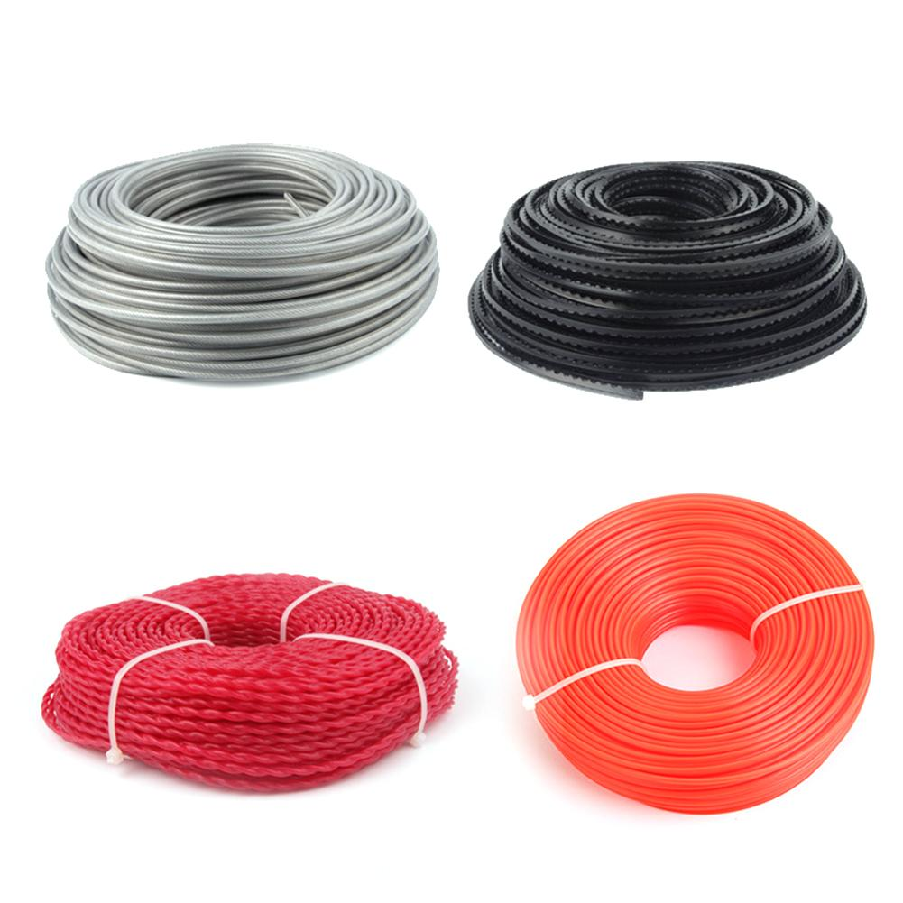 Professional Cutting Trimmer Line Nylon Round Square Twist Steel Wire Serrated Type Rope Strimmer Cutting Cord Lawn Mower Parts
