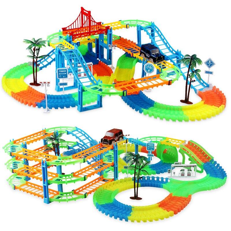 Eisenbahn Rennstrecke Spiel Set pädagogische DIY Biegung flexible - Druckguss- und Spielzeugfahrzeuge - Foto 2