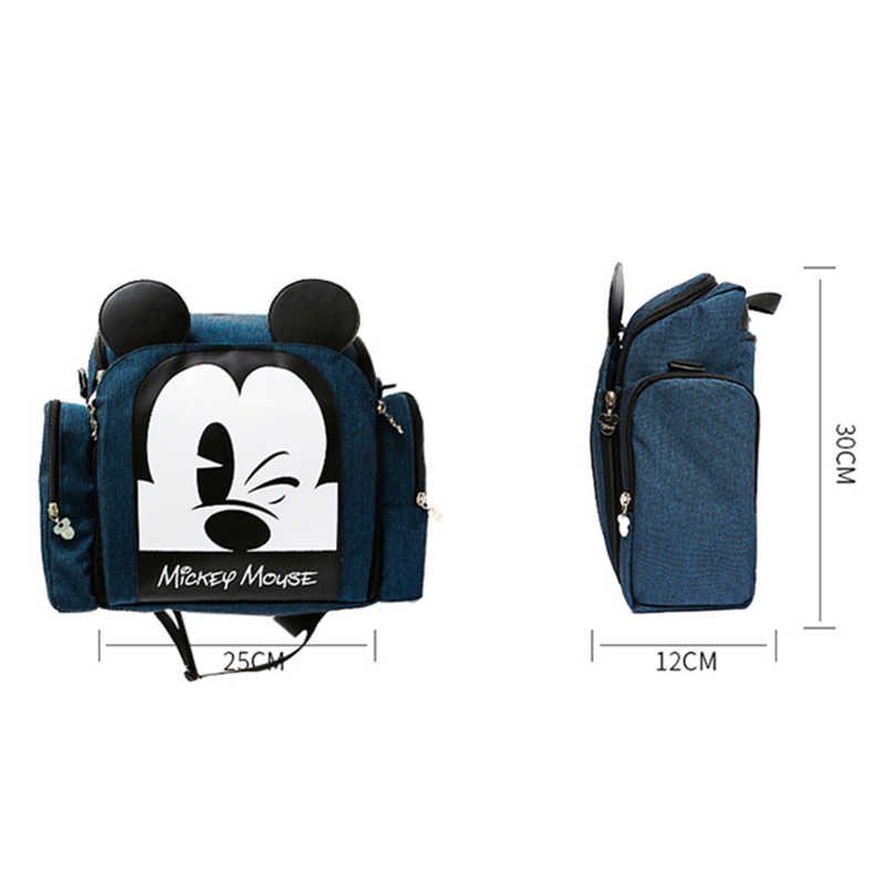 6a63e4608 ... Disney 2019 Mickey Minnie Mochila Maternidade Waterproof baby food  thermos Bags Bottle Feeding Backpack Baby Dining ...