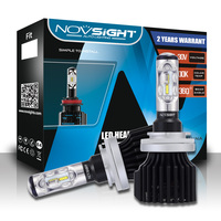 NOVSIGHT H15 Led Car Bulb Kit 12000LM 60W Set Super Bright Auto Headlights 12V Automobile Headlamp