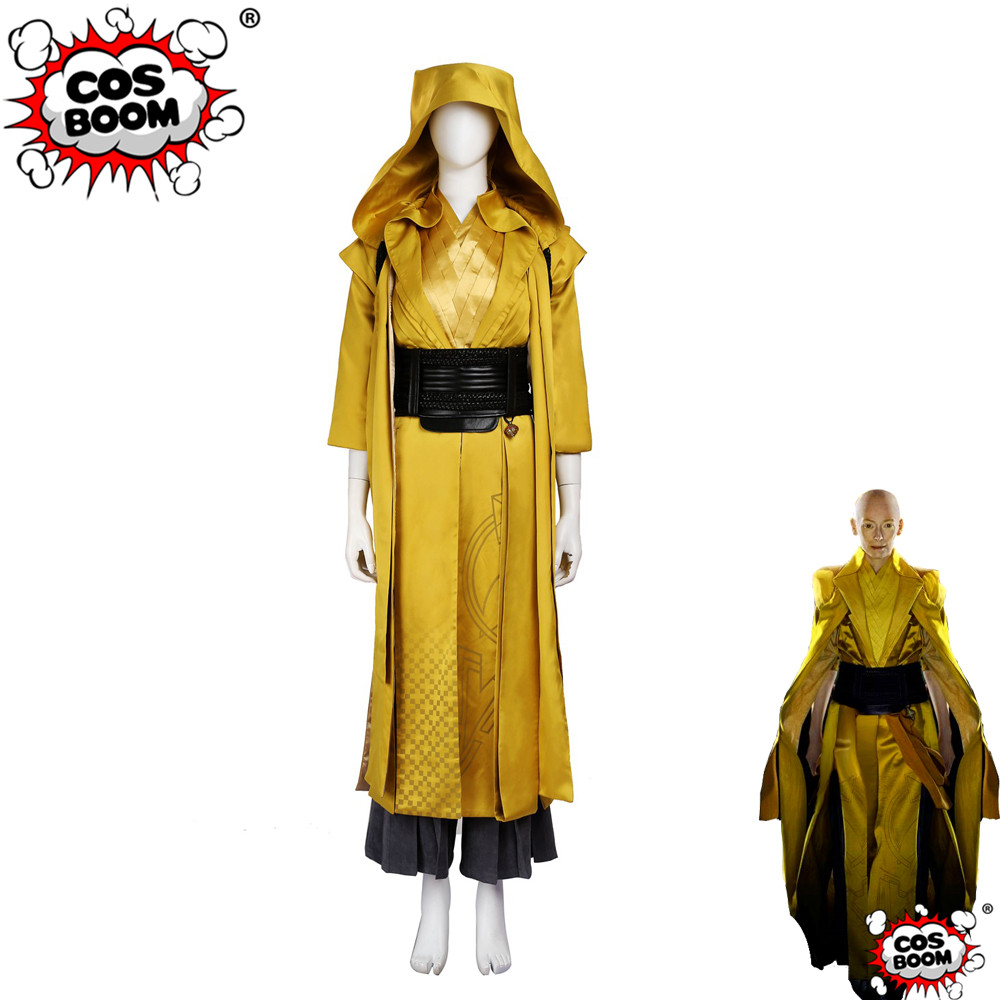 COSBOOM Doctor Strange Ancient One Cosplay Costume Adult Women's Halloween Doctor Strange The Ancient One Cosplay Costume