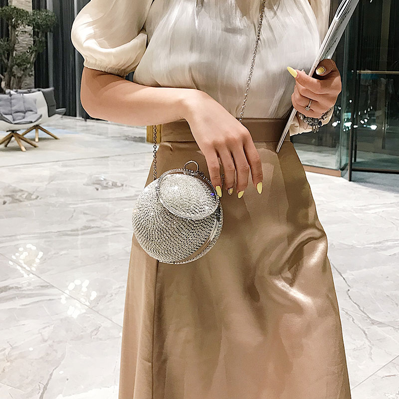 Koreaanse versie kleine tas meisje 2019 nieuwe zomer buitenlandse meisje Handtas Schoudertas Mode straddle kleine ronde tas - 3