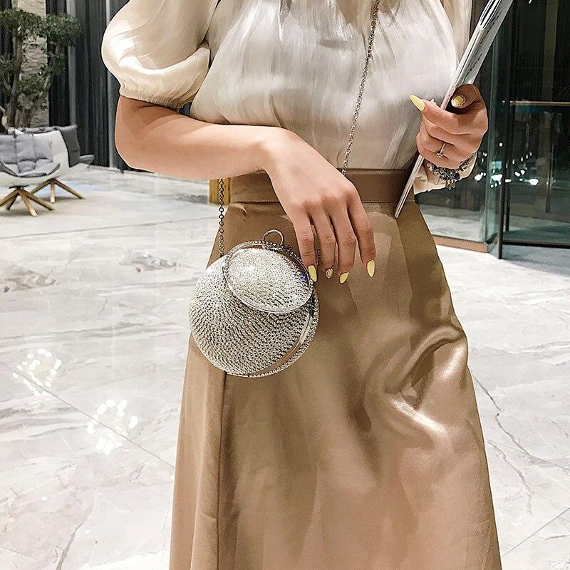 Versione coreana piccola borsa della ragazza 2019 nuova estate ragazza straniera Borsa A Tracolla Della Borsa di Modo del Sacchetto di straddle piccola borsa rotonda - 3