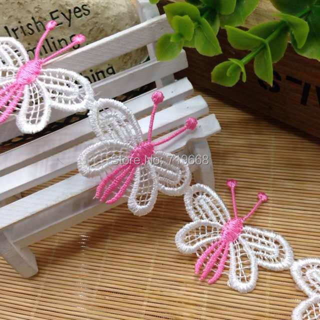 <font><b>Hot</b></font> Sale!30yards/<font><b>lot</b></font>,<font><b>new</b></font> <font><b>style</b></font> water soluble embroidered lace trim sewing crafts baby scrapbooking dolls DIY hair accessory