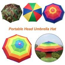 Portatile Testa Ombrello Cappello Pieghevole Del Cappello di Accessori e  articoli per pioggia Cappello Pesca Anti 8cfd6d0f501d