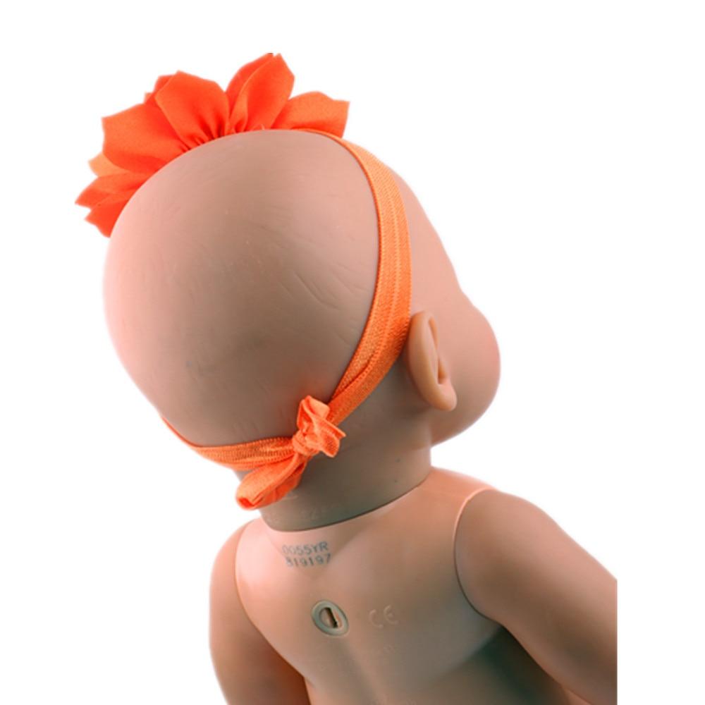Rhinestone Baby Headband Bows Orange Hair Band Hair Accessories Fit 43cm  Baby Born zapf 776e976c41c