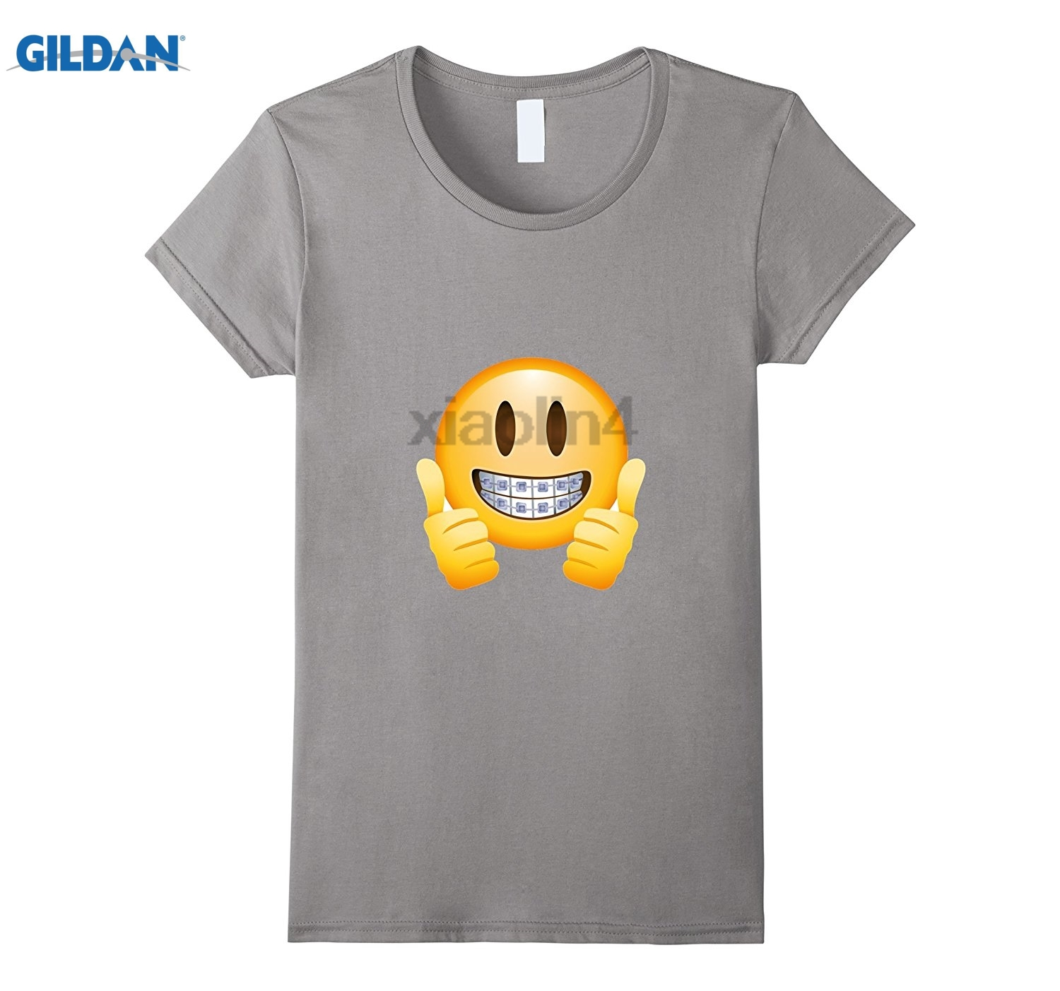 GILDAN Braces Emoji T-Shirt Thumbs Up Smile Face Happy Mouth Teeth GILDAN Short-Sleeved Cotton New Mens T-Shirt Size S - 3XL