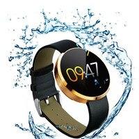 Новинка 2017 года KDM360 Смарт часы для Спорт кожаный ремешок Сталь циферблат совместим с Android и IOS BT 3,0 + 4,0 IP53 ежедневно водонепроницаемый