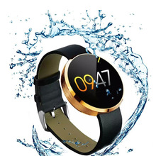 2017 New KDM360 Smart Watch For Sport Leather Strap Steel Dial Compatible With Android and IOS BT 3.0+4.0 IP53 daily waterproof