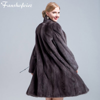 Fanshefeier 2018 new real mink fur women's coat real natural mink fur high quality winter warm women's luxury fur clothing