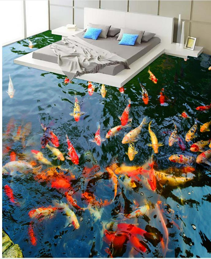 Custom Photo self-adhesive 3D floor 3D wallpaper floor for living room Toilets Bathroom Bedroom 3D Floor free shipping flooring custom living room self adhesive photo wallpaper wonderland lotus pool 3d floor thickened painting flower