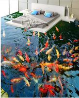 Custom Photo self adhesive 3D floor 3D wallpaper floor for living room Toilets Bathroom Bedroom 3D Floor