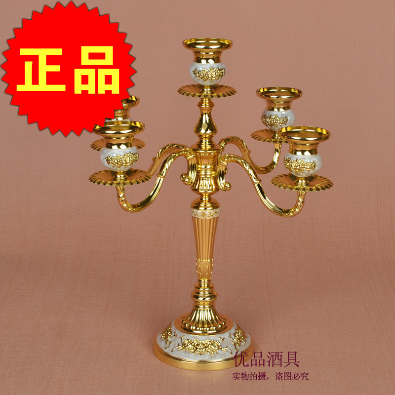 Candlestick Candle Wedding candlelight dinner ornaments five hotel living room restaurant dining table decoration