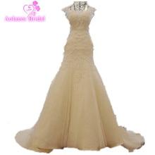 De alta qualidade do laço do vintage sereia vestido de noiva 2017 trompete boho vestidos de noiva vestido de casamento custom made nupcial dress