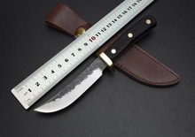 The forging little ivory straight knife New Hunting Fixed Blade Knife Knives Camping Hand Tools ,Free shipping