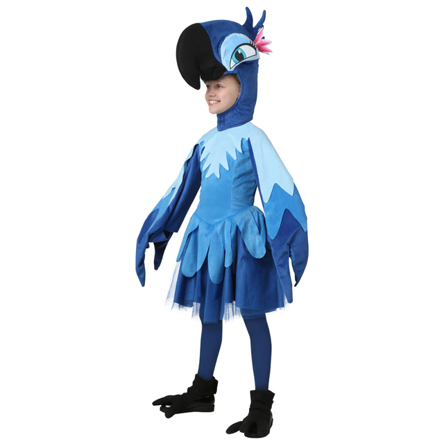 Genuine Kids Like Deluxe Rio Jewel Costume Children Halloween Party Cosplay Bule Parrot Girls Fancy Dressing  sc 1 st  AliExpress.com & Genuine Kids Like Deluxe Rio Jewel Costume Children Halloween Party Cosplay Bule Parrot Girls Fancy Dressing up-in Girls Costumes from Novelty u0026 ...