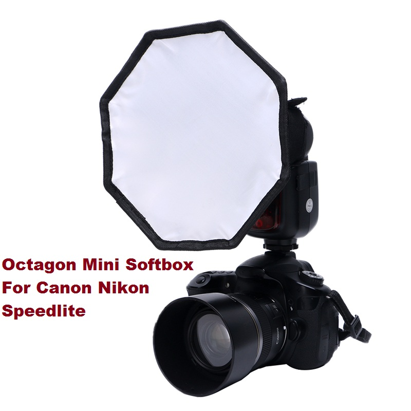 30cm 12 Flash Diffuser 8 Square Octagon Mini Softbox For Canon for Nikon Speedlite Hot Shoe