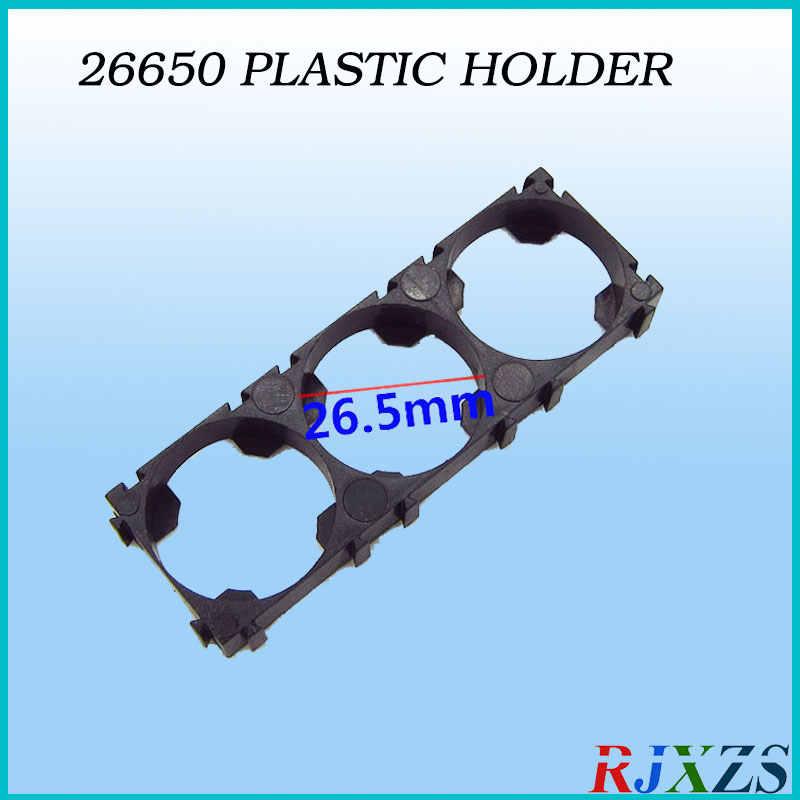 2 piezas/alot 3 S 26650 soporte de batería cilíndrico 26650 soporte de seguridad Anti Vibración funda de plástico caja