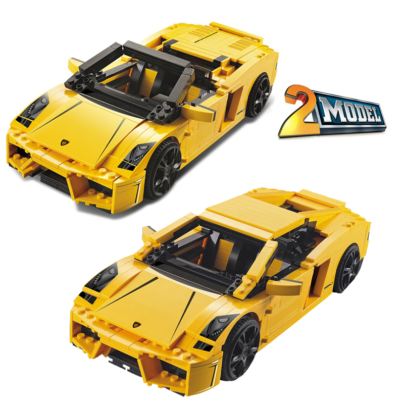 ФОТО Decool 8611 Technic LP 560-4 Car building Toys for children Toy Set Boy Car Racers Car Gift Compatible with Lepin 8169
