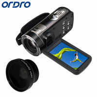 Ordro HDV Z80 10x Optical Zoom HD 1080P Digital Video Camera 5X Digital Zoom Remote Control Camcorder 3'' Touch Screen
