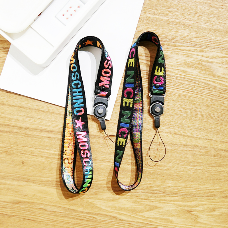 3D Print Words Strap Mobile Phone Grip Holder for Nokia/Lenovo/Xiaomi Cellphone Neck Straps Lanyard Keys Sport ID Card Straps