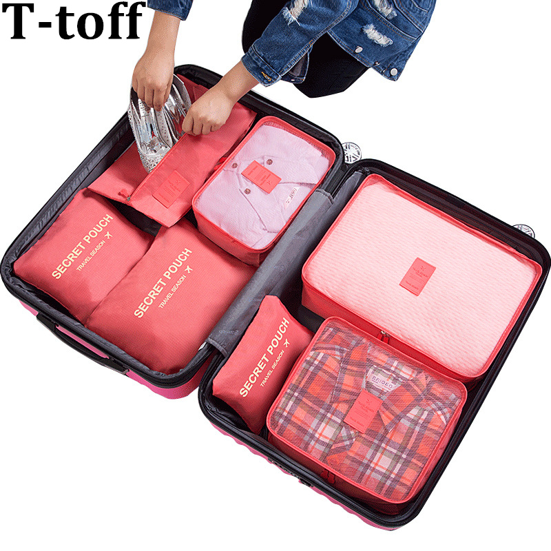 009e549b69a0 Discount New 6PCS/Set Travel Mesh Bag Suitcase Clothing Packing Cube ...