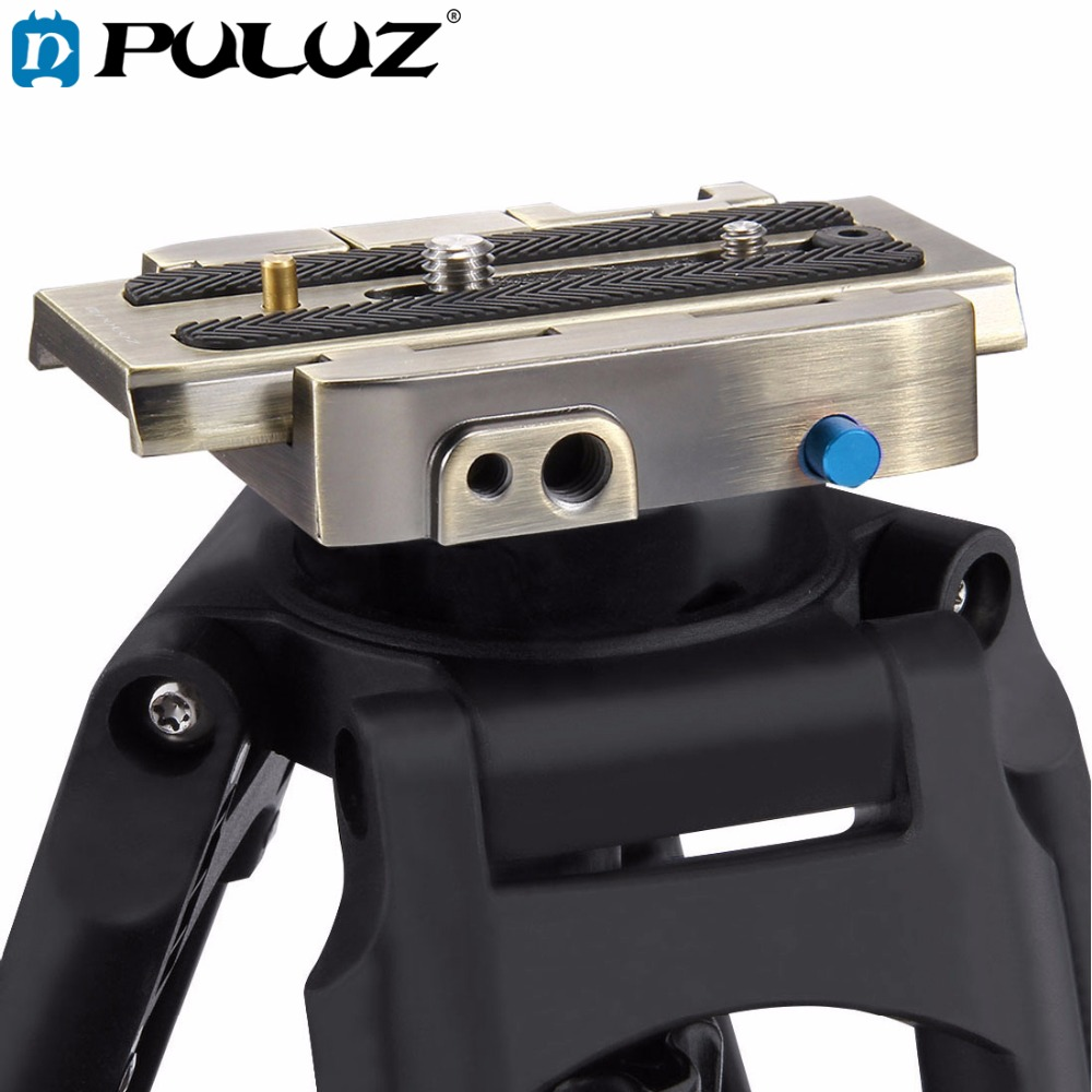 PULUZ PU3502B Quick Release Clamp Adapter + Quick Release Plate for DSLR SLR Cameras
