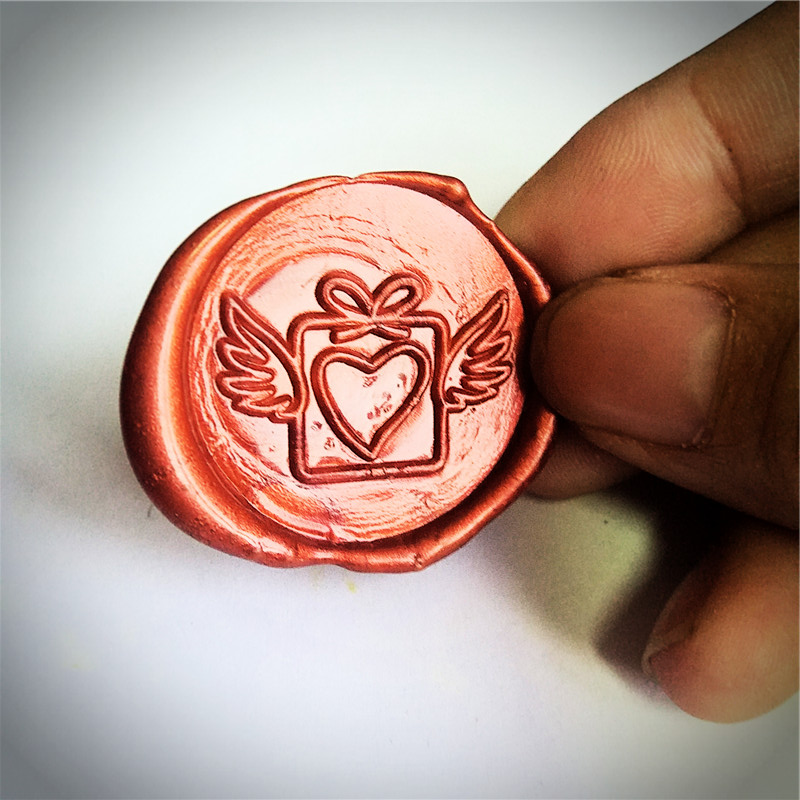 love wing gift Stamp box creative wax seal stamp wax stamp set/diy wax seal greeting blessing letter gift party sealing stamp creative wax envelope set literary romantic gift confession artifact the new year wedding gift